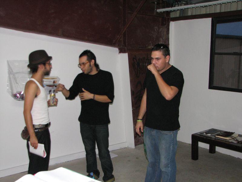 Abdiel Segarra, Omar Velázquez y Rafael J .Miranda