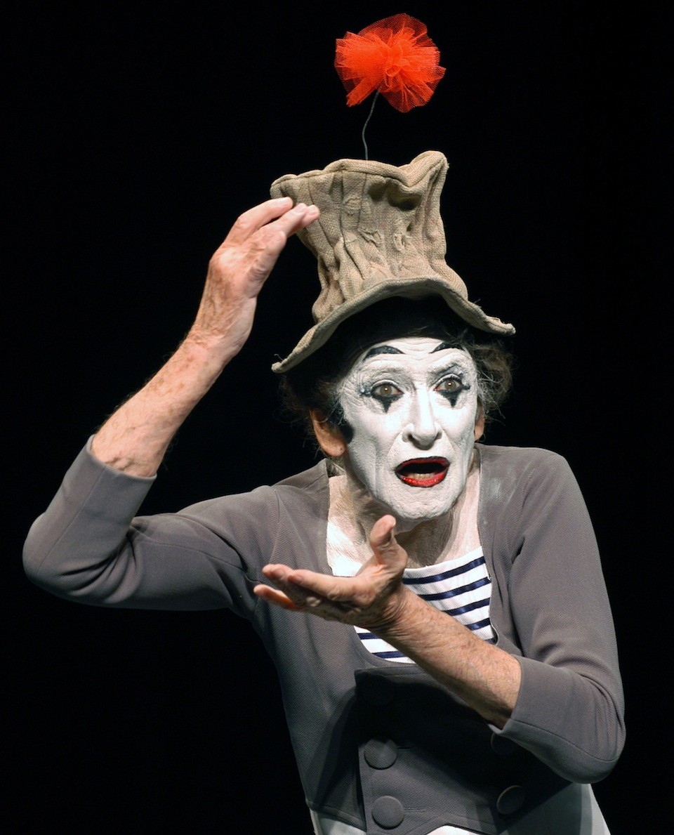 Marcel Marceau at the Geffen Playhouse